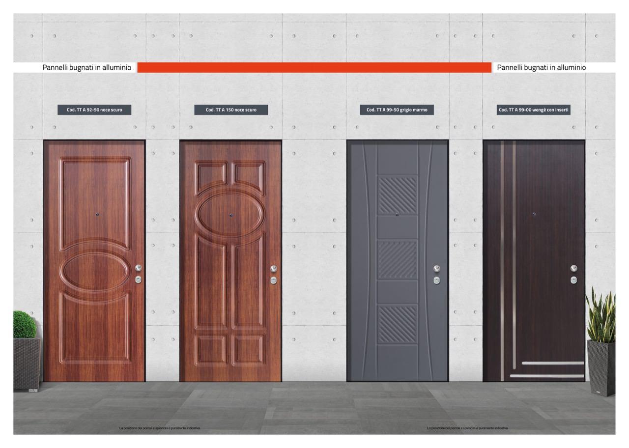 Colori Pannelli Porte Blindate pannelli bugnati in alluminio - t&t porte e blindati