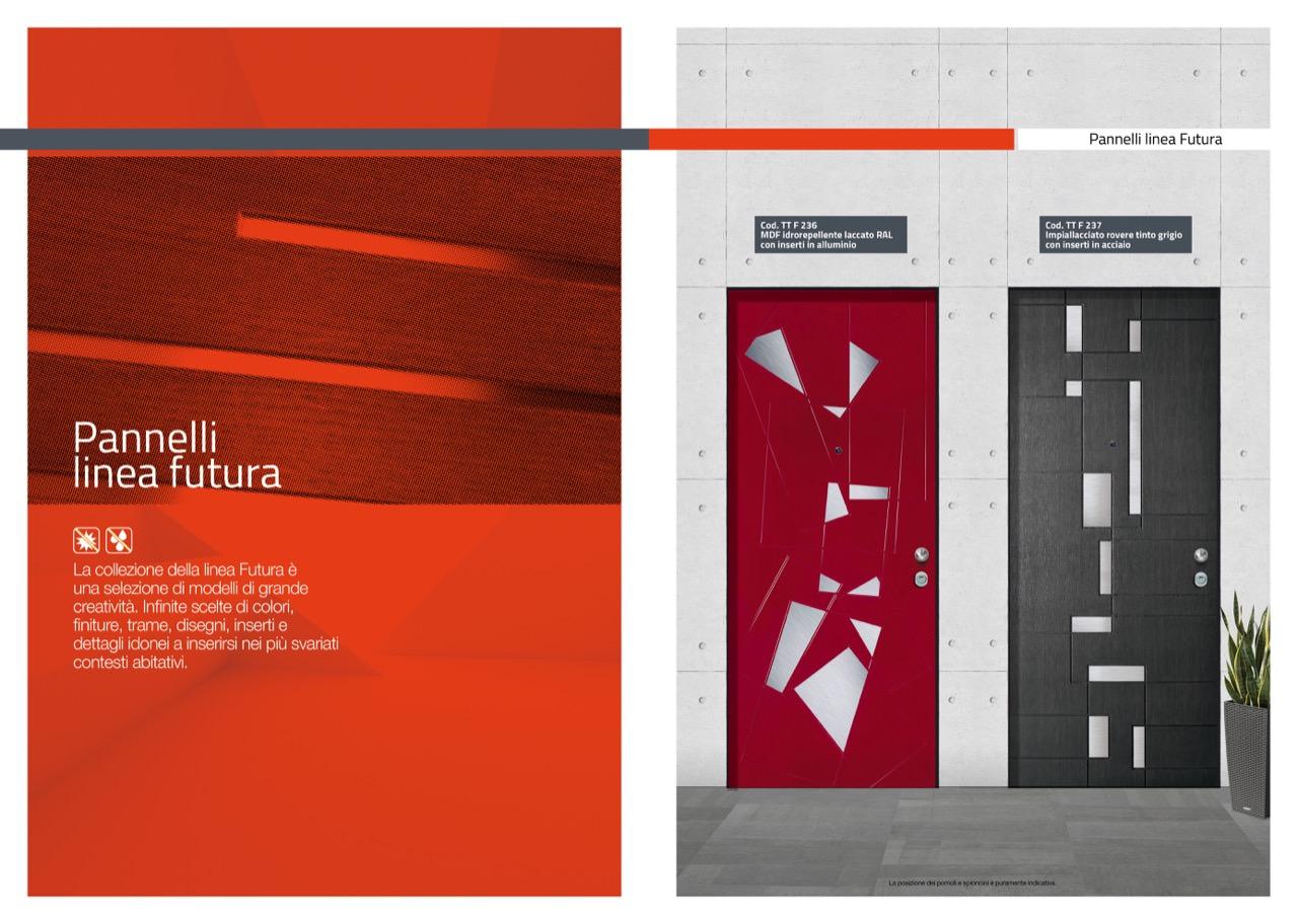 Colori Pannelli Porte Blindate pannelli linea futura - t&t porte e blindati
